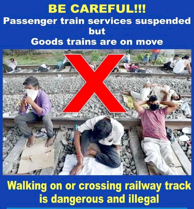Important Announcement, Not to use the railway track for any activity